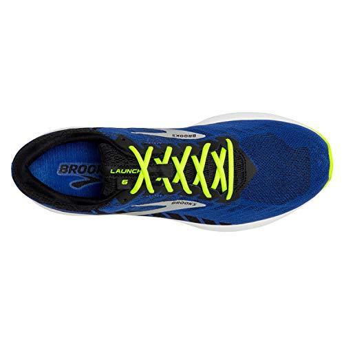 Brooks Mens Launch 6 Running Shoe - Blue/Black/Nightlife - D - 8.5