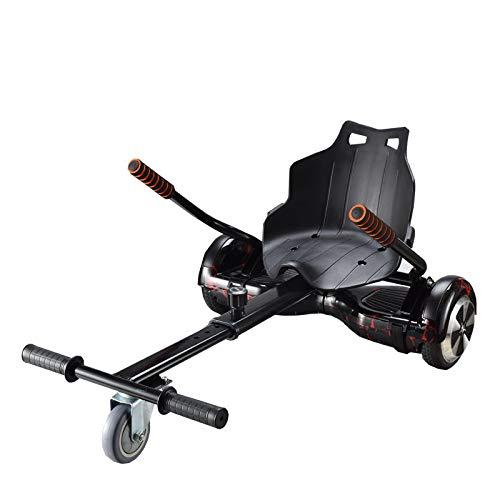 fonefunshop HoverKart Go Kart Cart Racing Seat Attachment For Electric Balance Board Scooter - Black