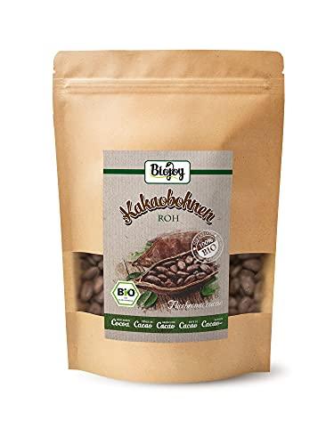 Biojoy Granos de Cacao crudos BÍO, granos enteros Theobroma cacao (0,5 kg)