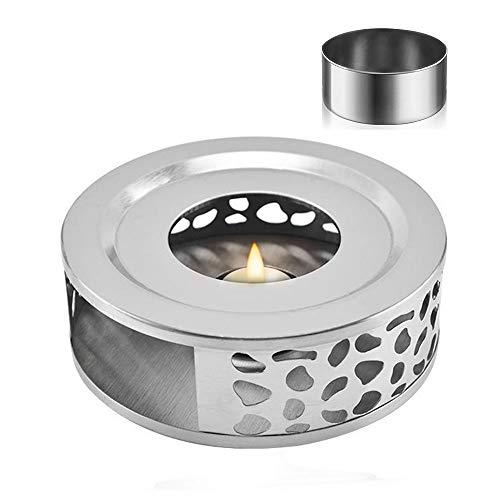 MELARQT Stövchen Teewärmer Kaffeewärmer aus Edelstahl mit Teelichthalter Tee-Basis für sämtliche Teekannen geeignet