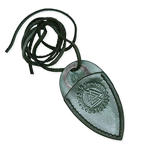 Toferner Originelles Geschenk - Celtic Pocket Handgeschmiedetes Federstahl Messer im keltischen Stil - Scharfe & Spitze Klinge mit Echtledertasche Kunst- & Kulturliebhaber
