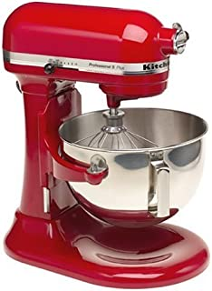 KitchenAid Professional HD Stand Mixer RKG25H0XER, 5-Quart, Empire Red, (Renewed)