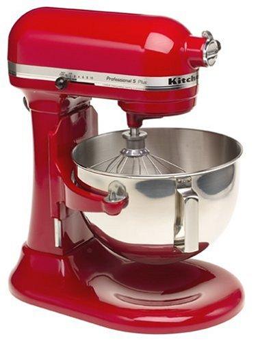 KitchenAid Professional HD Stand Mixer RKG25H0XER, 5-Quart, Empire Red, (Renewed)