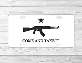 JS Artworks AK47 ak 47 Come and Take It Front 6 x 12 Metal License Plate Frame