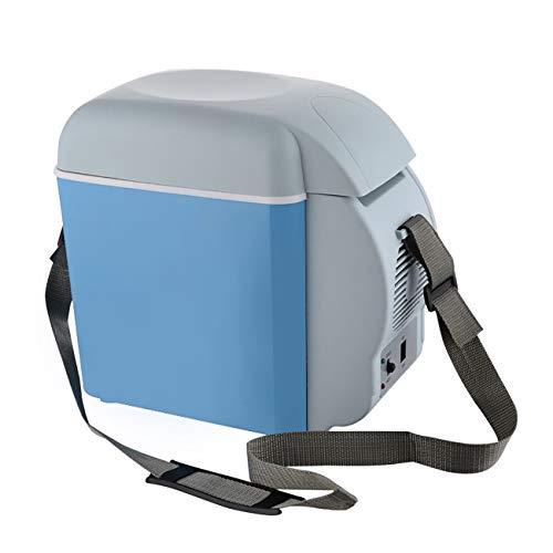 ShiyiUp Tragbar Thermo-elektrische Kühlbox, 8 Liter, 12 V für Auto, LKW und Steckdose, Mini-Kühlschrank,Thermobox für Auto,Kühlbox/Heizbox