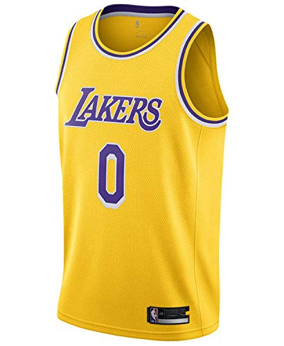 Kyle Kuzma Los Angeles Lakers #0 Youth 8-20 Yellow Icon Edition Swingman Jersey (Large (14-16))