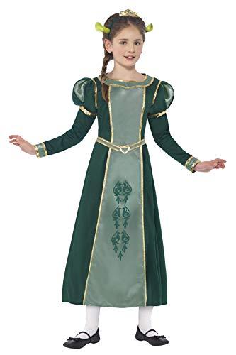 Smiffys kindershrek prinses Fiona kostuum, jurk, haarband met diadeem en oren, shrek, maat: L, 20491