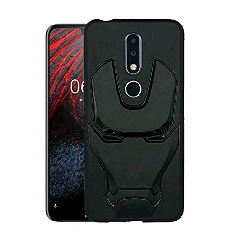 ZATX Marvel Avengers Iron Man 360 Degree Full Protection Silicon Back Cover for Nokia 6.1 Plus (Nokia 6.1 Plus, Black)