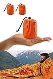 Shayson Saco de Emergencia Dormir,Aislamiento Térmico, Exterior Brillante Naranja Fácil de...