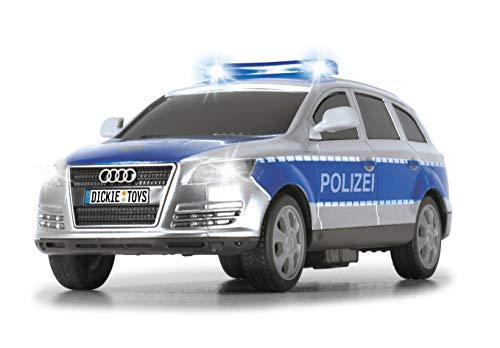 Dickie Toys Polizeiauto, Polizei SUV, Police Patrol, Audi Q7, mit Licht & Sound, Batterien enthalten, 20 cm