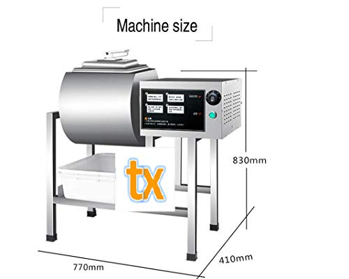 Best Deals! TX Stainless Steel Meat Salting Machine automatic Meat Poultry Tumbler Machine Meat pickling machine vegetable Pickling machine (50L, 110V/60HZ)
