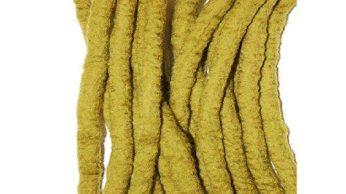 Souci jaune fait /à la main en laine/ /Double Extr/émit/é de dreadlocks en laine m/érinos Dreads
