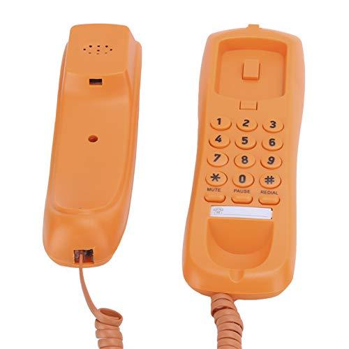 Teléfono Teléfono Teléfono Línea Fija con Cable Teléfono de Escritorio accionado Naranja para el Hotel del Ministerio del Interior