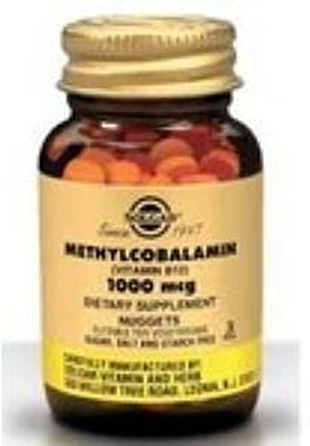 Metilcobalamina Vitamina B12 Masticables 30 comprimidos de 1000 mcg de Solgar
