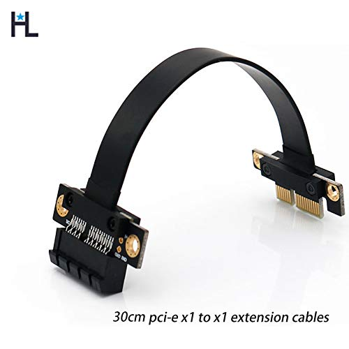 Occus HL PCIE 3.0 x1 30cm data transfer function lines compatible with all types of interface computer equipment pci-e slot stable - (Cable length: 30cm extension cable, Color: x1 pci-e 3.0 black)