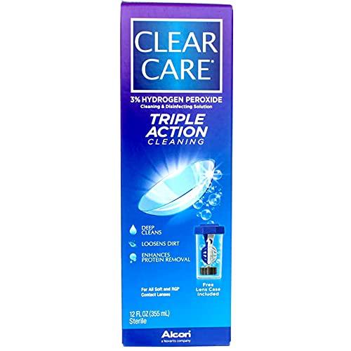 Clear Care Nettoyage et désinfection Solution 12 oz