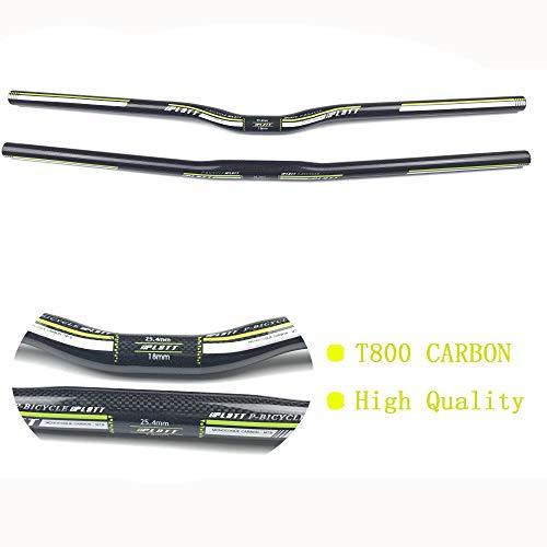 Pn&cc Carbon Bike Lenker, 3K Vollcarbon Mountainbike 25.4Mm Fahrradlenker MTB Riser/Flachgriff für Faltrad Rennrad,Riser,700mm