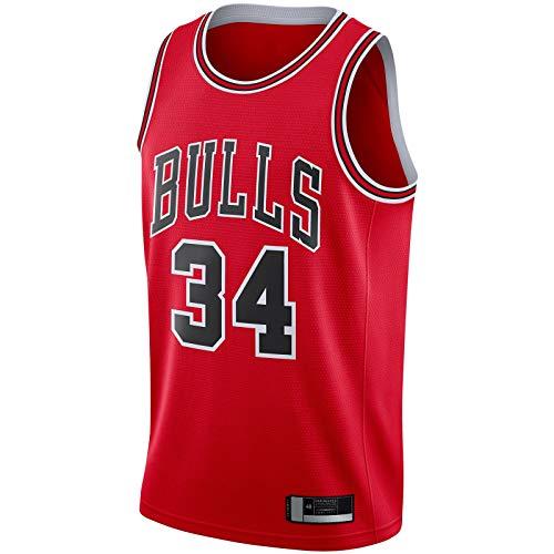 LANHUA Camiseta de manga corta para hombre Swingman Team Wendell Sports Carter Basketball Jersey Jr. Chicago Clothing Bulls Rojo -#34 Jr. manga corta Icon Edition-XL