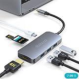 dodocool HUB USB C, 7-in-1 Adattatore USB C HDMI 4k, USB C Hub con USB-C 100W PD, 3 Porta USB 3.0, Slot SD/TF, Adattatore MacBook PRO/Air 2020/2019/ 2018, per Samsung, dell XPS, Chromebook, MateBook