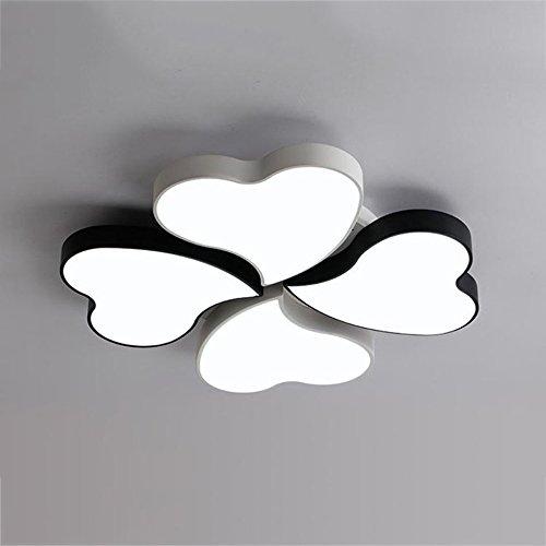 GPZ-iluminación de techo Creativo llevó la lámpara de techo, lámpara del dormitorio Simple lámpara de la sala de estar moderna personalizada romántica boda lámpara de la habitación caliente lámparas d