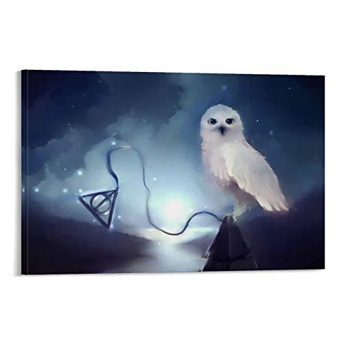 DRAGON VINES Harry Potter Hogwarts Escuela de brujería y magia búhos carteles e impresiones sobre lienzo, decoración de la oficina del hogar, pinturas de pared 20 x 30 cm