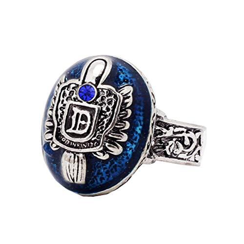 1 anillo de la cresta de la familia Salvatore Damon Stefan Finger para los fanáticos