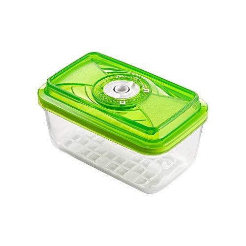 VacSy FoodSaver Vakuum Glasbehälter zum Frischhalten von Lebensmitteln - Frischhalte-Box mit 1,5 Liter