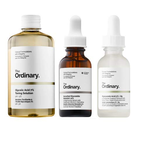 The Ordinary Face Serum Set! Ascorbic Acid 8%+Alpha Arbutin 2%! Hyaluronic Acid 2%+B5! Glycolic Acid 7% Toning Solution! Help Fight Visible Blemishes And Improved Skin Radiance!