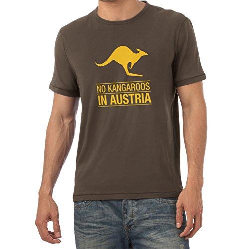 Texlab Herren No Kangaroos in Austria T-Shirt, Braun, XXL