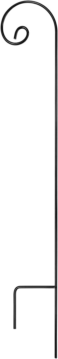 Ashman Shepherd Hook 65 Inch 1 2 Diameter Met Free shipping anywhere in the nation quality assurance Solid Black