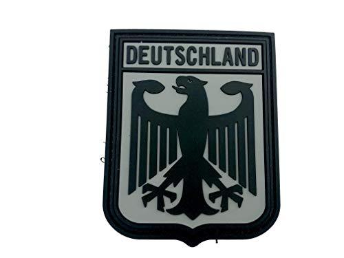 Patch Nation Deutschland Königlichem Wappen B&esadler Grau Flaggen PVC Klett Emblem Abzeichen