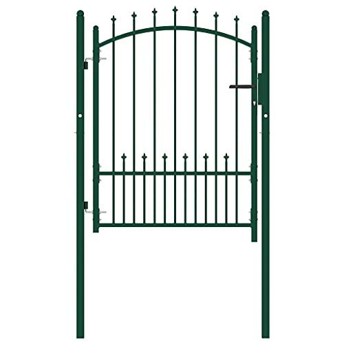 Puerta de jardín, puerta abatible de metal, puerta de valla para exteriores,...
