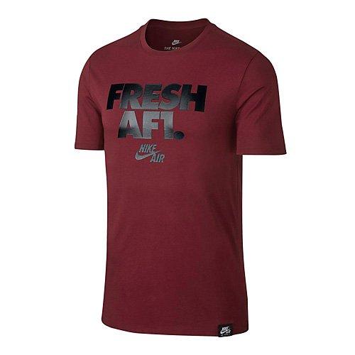 Nike M NSW Tee AF1 2 T-Shirt, Uomo, Team Rosso/Nero, XL