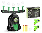 MYRIAD365 Hover Shot Target Shooting Game - with 2 Toy Guns, Compatible with Nerf Guns, Glow in The Dark Floating Target Foam Dart Game for Kids Boys Girls, 10 Zero Gravity Foam Shooting Balls