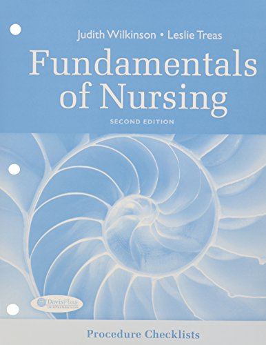 Procedure Checklists for Fundamentals of Nursing 2nd Edition