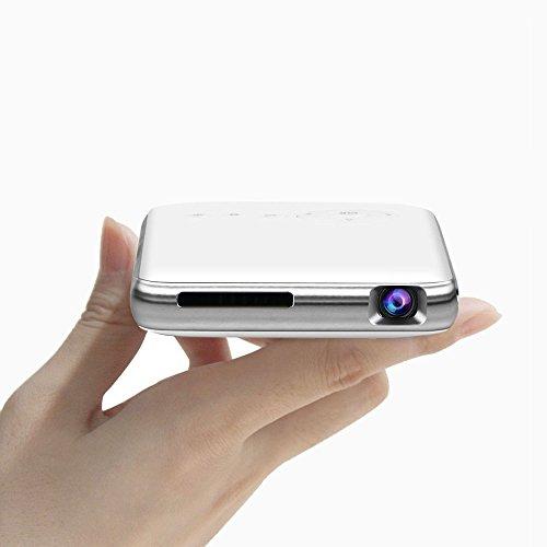 LED Mini Proiettore Portatile 300 Lumen ,DLP Proiettore Video Multimedia Home Theater con Supporto 1080P HDMI USB SCHEDA SD VGA AV per Home Cinema PC Portatile Giochi iPhone e Smartphone Android