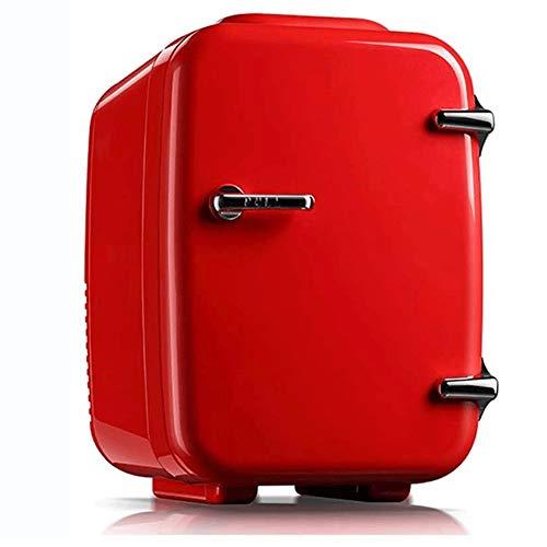 Qinmo 4 Litros compacto de una puerta de refrigerador y congelador, perfecto for hogares, oficinas, dormitorios, Nevera Pequeño Food Drink Machine almacenamiento (Color : Red)