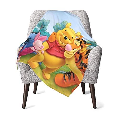 Hdadwy Winnie The Pooh Manta para bebé recién nacido, manta liviana para cuna, adecuada para unisex, niños, niñas, recién nacidos, bebés y niños Swaddle de 30 x 40 pulgadas