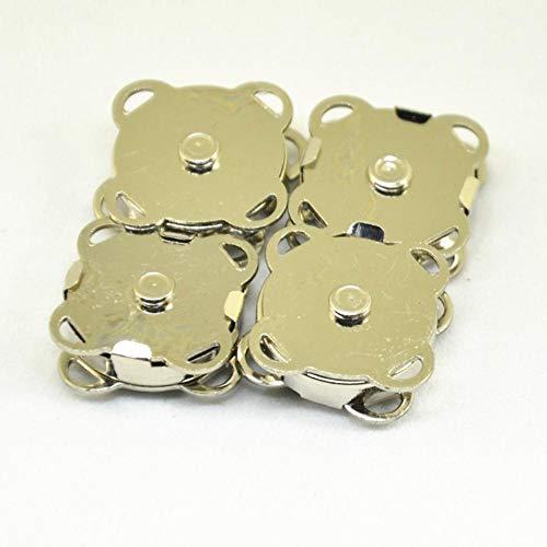 10 STKS 14 mm Metalen Magnetische Snaps Handtassluiting Sluitingen DIY Knop voor Tas Handwerk Accessoires Zilver