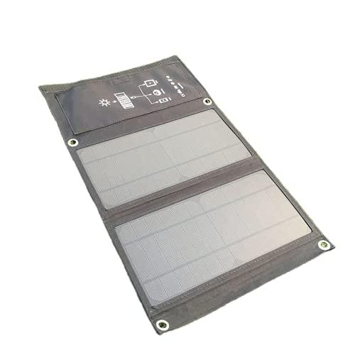 Cargador solar portátil de 15 W con 2 puertos USB para iPhone X/8/8 Plus/7/7 Plus/6/6 Plus, iPad Air 2/Mini 3, Galaxy S6/S6 Edge