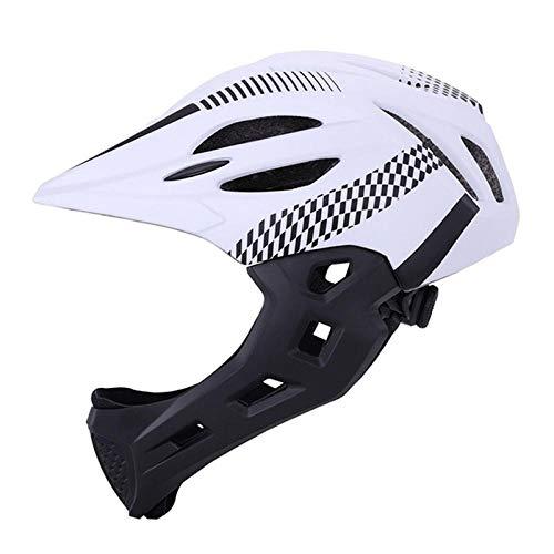 KYLong Kinderhelm LED mountainbike helm kind full face helm fiets helm verwijderbaar