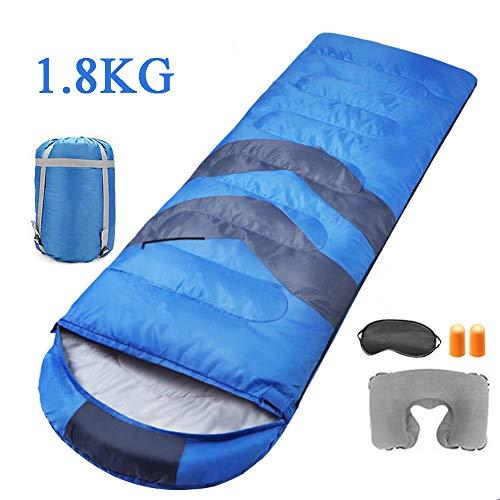 CBPE Schlafsack, Leichtgewicht Warm wasserdichte Hohle Baumwollfüllung, 3-4 Jahreszeiten Camping Wandern Outdoor, Für Kinder Jugendliche Erwachsene,1.8kg