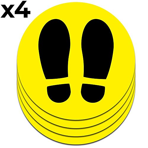 Señal Adhesiva Huella Amarilla para Suelo | Separadores