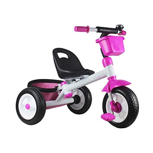 Niño de la bicicleta portátil for los hombres triciclo infantil y las mujeres de los chicos rápidos cochecito inflable del bebé del bebé de los neumáticos Walker neumático y niñas de la instalación de