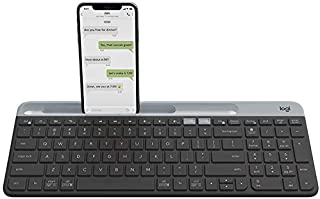 Logitech K580 Slim Multi-Device Wireless Keyboard for Chrome OS - Bluetooth/USB Receiver, Easy Switch, 24 Month Battery, D...