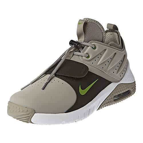 Nike Air MAX Trainer 1 Leather, Zapatillas para Hombre, Multicolor (Medium Grey/Chlorophyll/White/Black 001), 41 EU