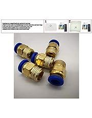 10 piezas accesorios neumáticos PC 6 mm rosca macho M5 M6 1/8 1/4 3/8 1/2 al tubo empuje tubo de aire Conexión recta PC1 / 4-01/02/03/04,6MM, M5