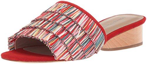 Donald J Pliner Women's Reise Slide Sandal, red/multi, 7.5 Narrow US
