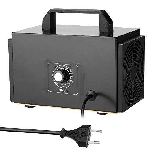 Tickas Purificador de filtro de aire de generador de máquina de ozono portátil con interruptor de temporización Ozonizador Ozonizador para coche casero Formaldehído