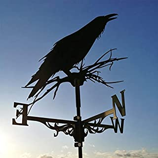 Decorative Wind Vane Weather Vane,Stainless Steel Direction Indicator Kit,Retro Farm Scene Garden Stake,Decorative Weather...